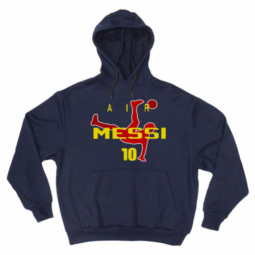"""Lionel Messi FC Barcelona /""""Air Messi/"""" Soccer Fifa Cup Hoodie Crew"""
