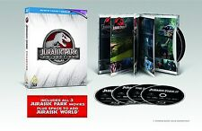 Jurassic Park Collection 3D [BR3D + Blu-Ray Box Set, Region Free, 4-Disc] NEW