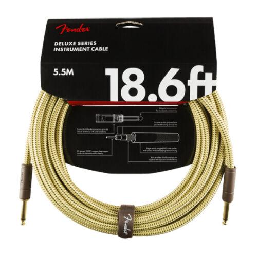 FENDER Deluxe Instrument Cable 5,5m Tweed ❘ Kabel ❘ Gitarrenkabel ❘ Klinke