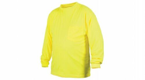 Pyramex Long Sleeve T-Shirt Hi-Vis Lime Non-Rated RLTS31NS M-5XL FREE SHIPPING