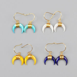 1Pcs-Crescent-Moon-Horn-Dyed-Real-Shell-Wire-Wrap-Gold-Plated-Earrings-HG1123-E