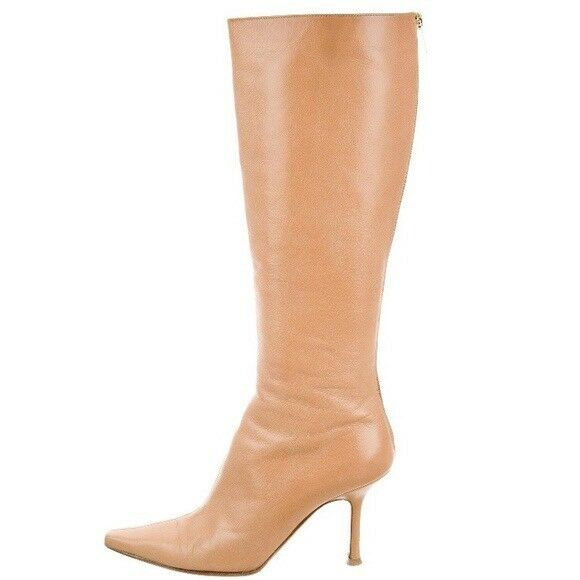 JIMMY CHOO Nude Leather Boots Boots Boots 7600b8