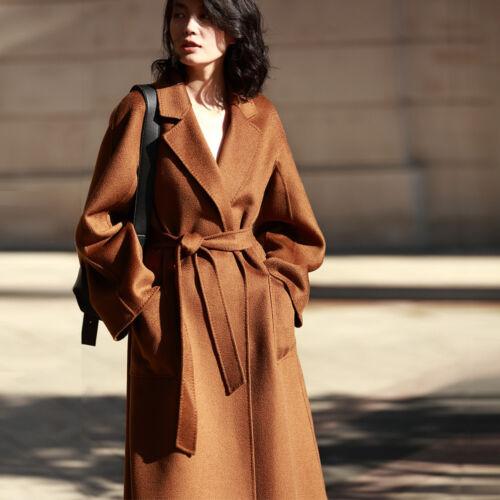 Coat Outwear Wool Women's New Jacket Cashmere sided Long Fh8202 Double BSRcYW8cn