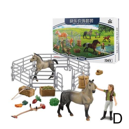 Simulated sable Tableau Scène Modèle De Ferme Ranch House Happy racecourse