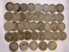 Barber SILVER Quarters With Dates *Roll of 40 Coins* = $10 Face Value  #M118