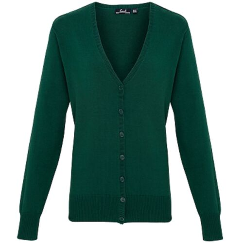 Premier Femmes Business Office Corporate Wear Woolmix Col V Bouton Cardigan New