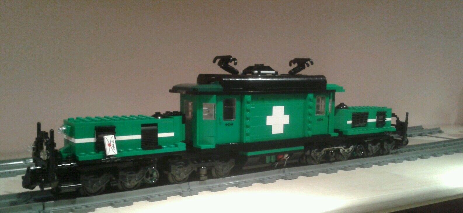 Lego ® City ferrocarril verde cocodrilo XL MOC RC bricktrain 10183