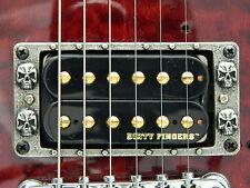 1 SKULL GUITAR HUMBUCKER PICKUP RING SURROUND FOR STANDARD AND EMG SOLID METAL