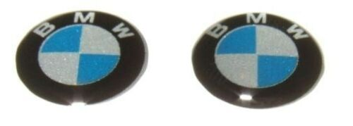 2x BMW KEY BADGE emblem replacement sticker Remote 1 3 5 6 x3 x5 m3 series 11mm