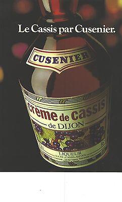 Publicite Advertising 1979 Cusenier Creme De Cassis De Dijon
