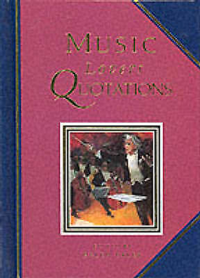 """AS NEW"" , Music Lovers Quotations (Quotation Book), Hardcover Book"