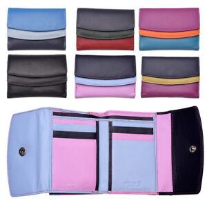 Femme-Multi-Couleur-RFID-Bloquant-en-cuir-veritable-sac-a-main-bleu-violet-noir