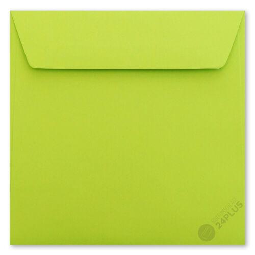 25x Briefumschläge haftklebend Hell Grün 18,0x18,0cm 180x180mm