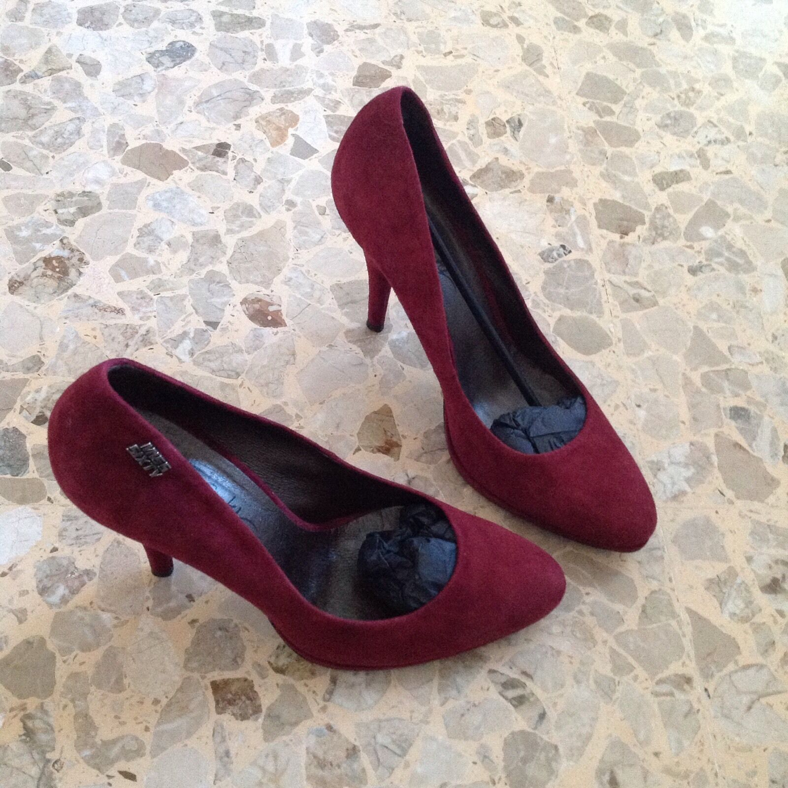 Schuhe schuhe pumps schuhe chaussures Miss Sixty 4040,5 bordeaux cuoio COME NUOVE