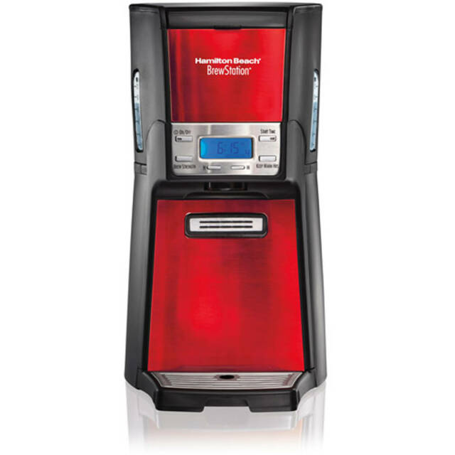 Hamilton Beach BrewStation 12 Cup Programmable Dispensing Coffee Maker RED Timer