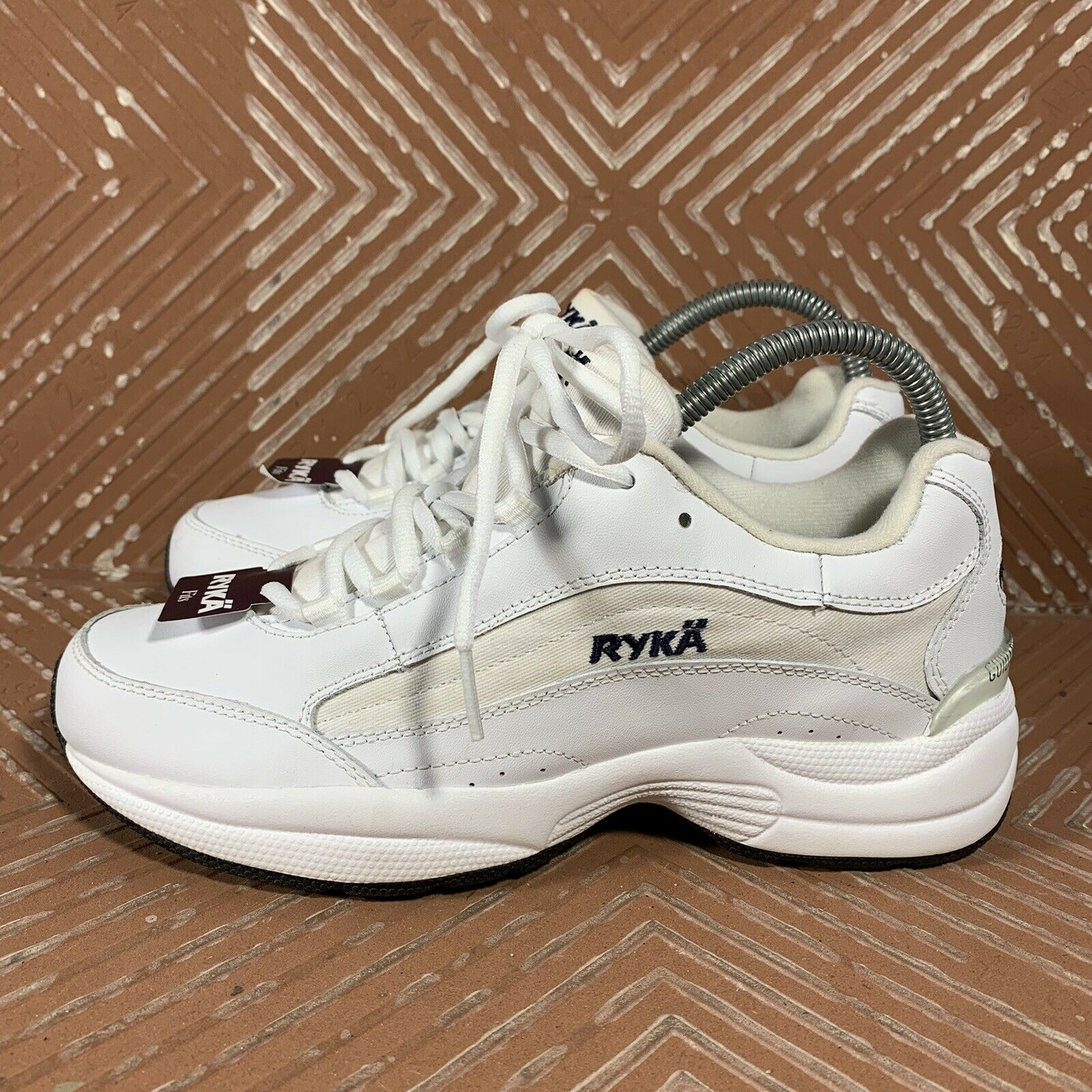 Ryka Contour White Leather Walking