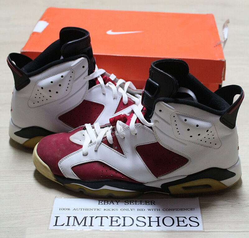 08 NIKE AIR JORDAN VI 6 RETRO CDP CARMINE 322719-161 US 11 infrared olympic oreo Comfortable and good-looking