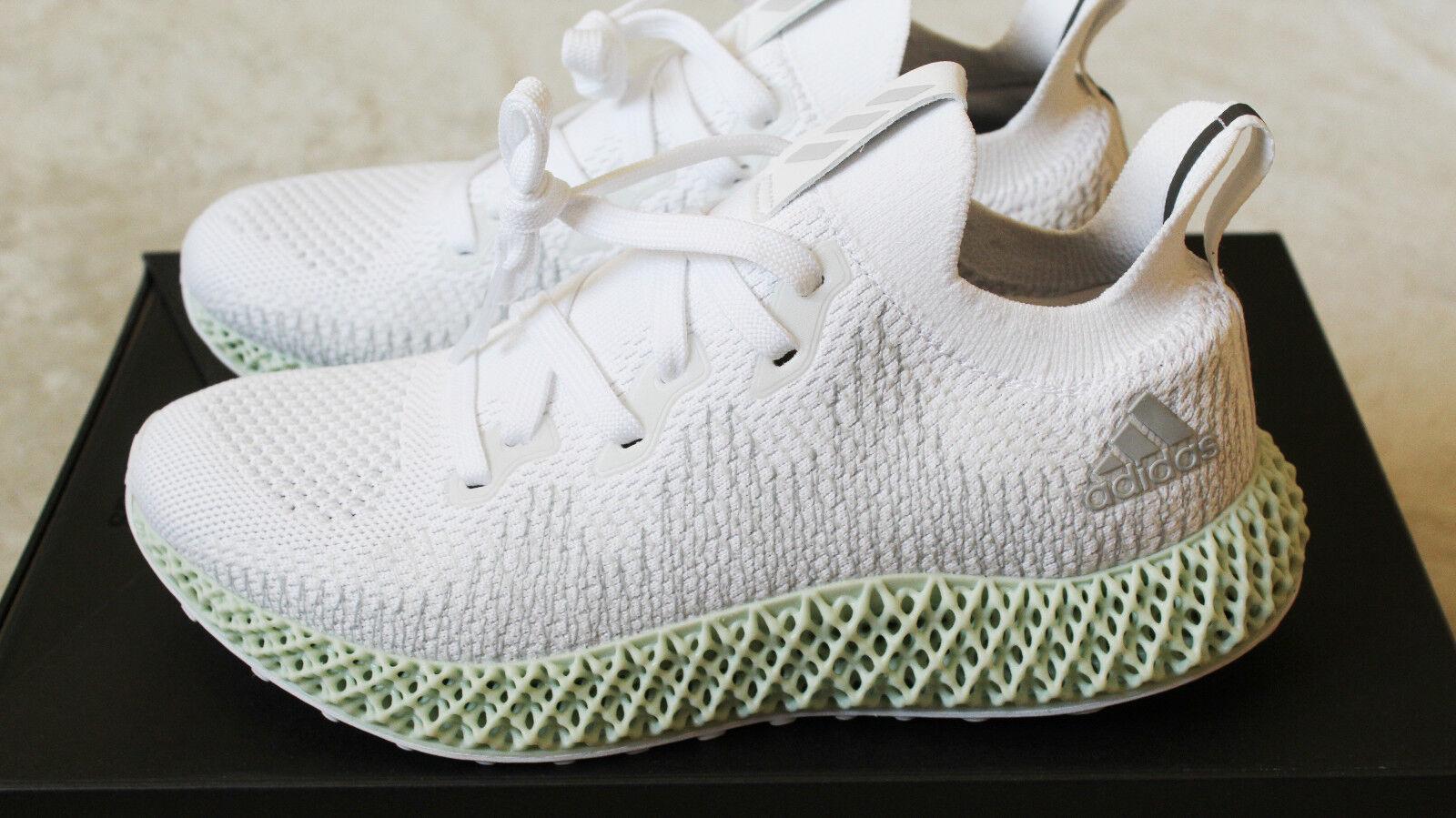 New Adidas Alphaedge 4D White Grey Green Futurecraft UK 3.5 US 4 W 5 EU 36