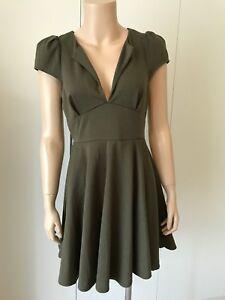 DOTTI-Khaki-Green-Dress-Ladies-Size-M
