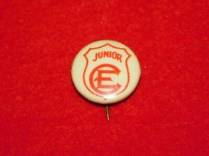 VINTAGE-PINBACK-BUTTON-JUNIOR-CE-CHRISTIAN-ENDEAVOR-HOUSE-BOSTON