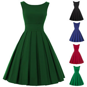 hot 50er 60er jahre damen swing pin up vintage minikleid. Black Bedroom Furniture Sets. Home Design Ideas