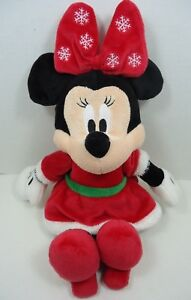 Minnie Mouse Christmas Dress.Details About Disney Baby Minnie Mouse Christmas Plush With Crinkle Ears Red Dress