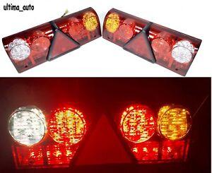 Reverse STOP impermeabile Frecce Lampada Confezione da 2 19 LED coda rimorchio 12 V Caravan camion auto