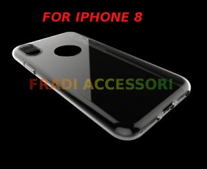 Cover custodia case iphone 8X apple trasparente morbida silicone TPU ultra slim