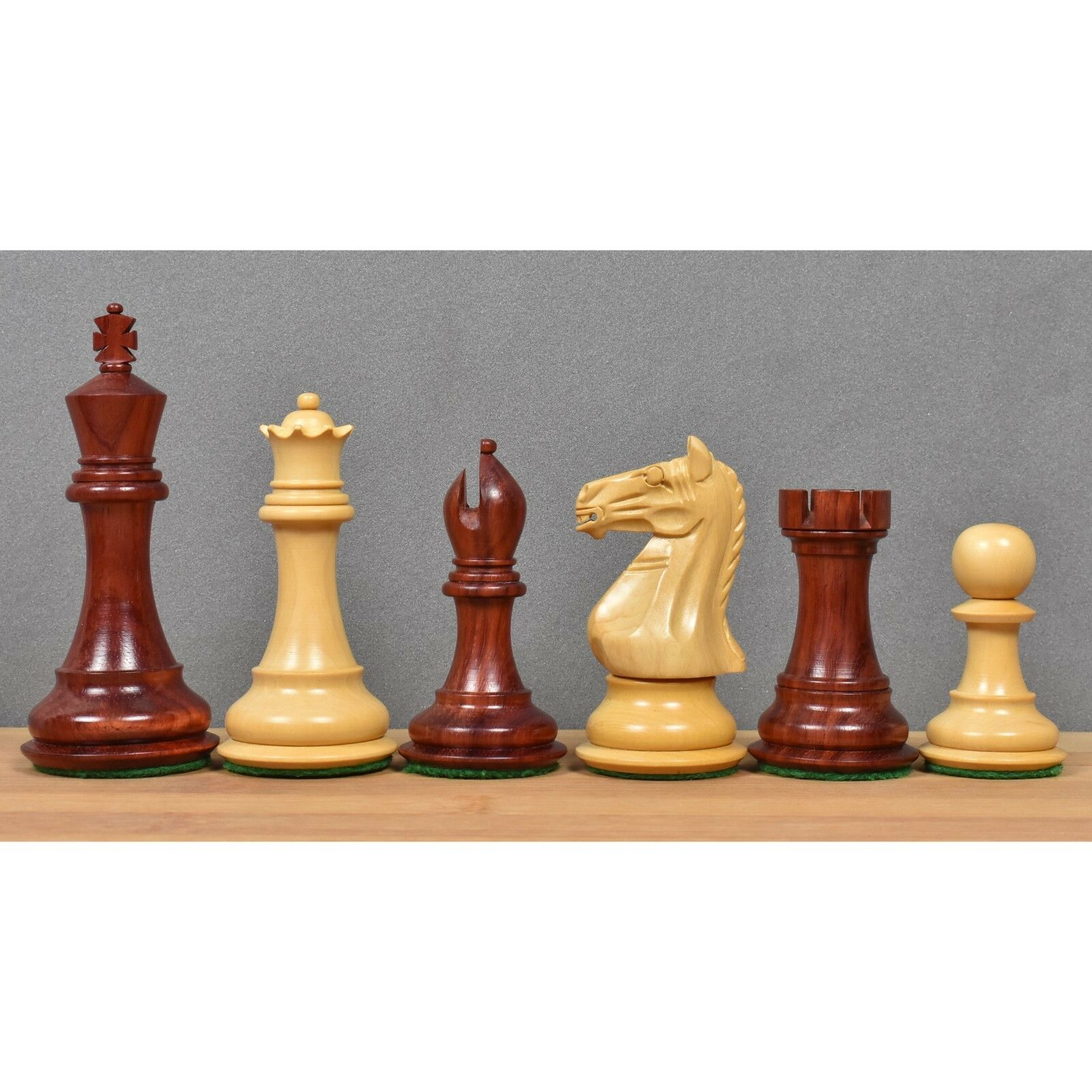 4  Angry Knight Staunton Luxury Chess Pieces Only Set - Weighted Bud pink Wood