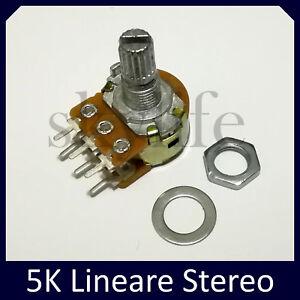 Potenziometro 5K varizione lineare potenziometri monogiro 5 kohm albero 6mm