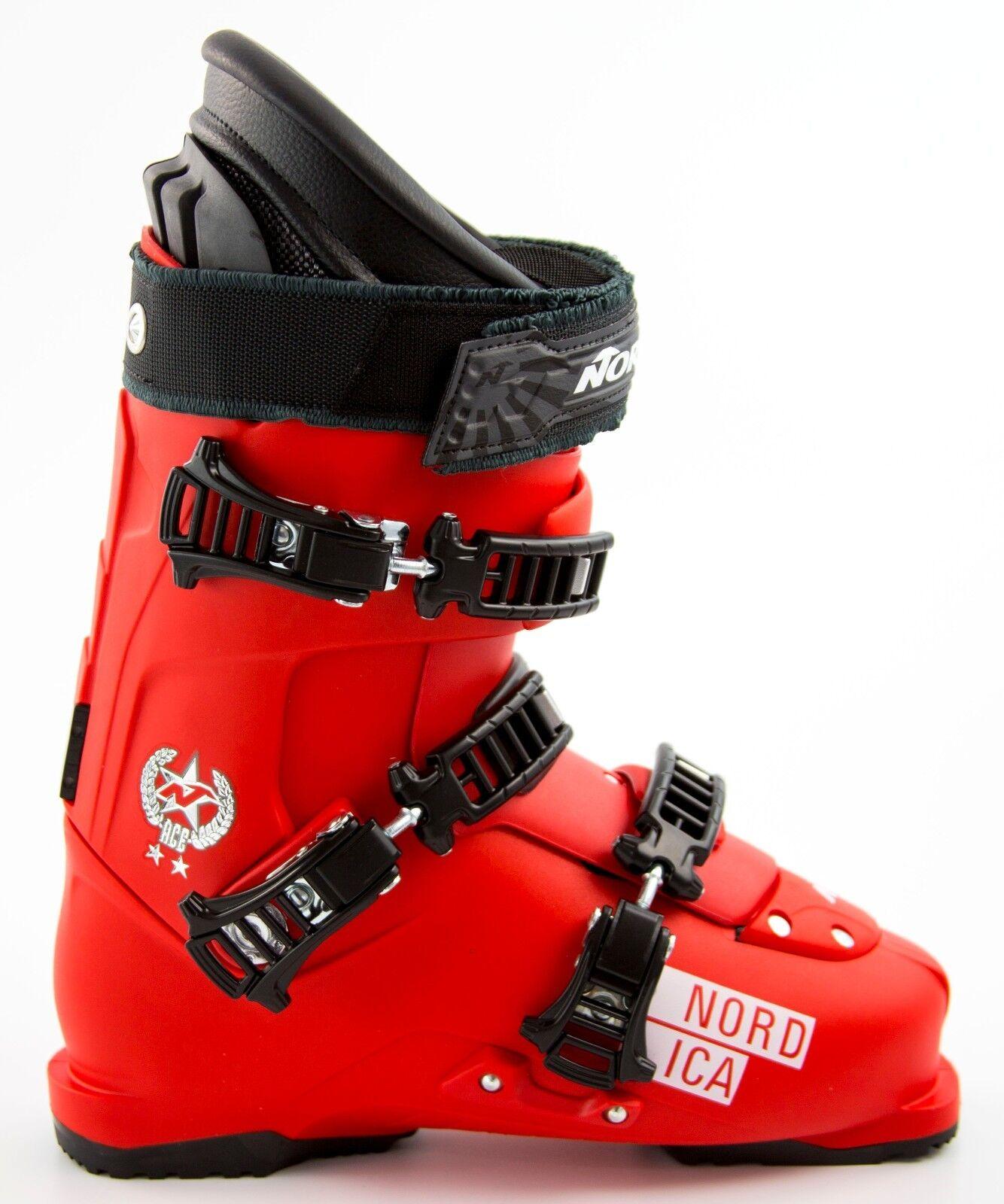 NEW 500  Herren Nordica Ace 2 Stars ROT Ski Stiefel Mondo Größe 26.5 27.5 28.5 29.5