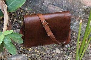 Genuine-Leather-Vintage-Laptop-Messenger-Handmade-Briefcase-Bag-Satchel-11-034-X15-034