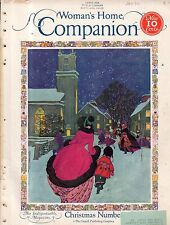 1926 Womans Home Companion December-Santa Claus at North Pole; Norman Rockwell