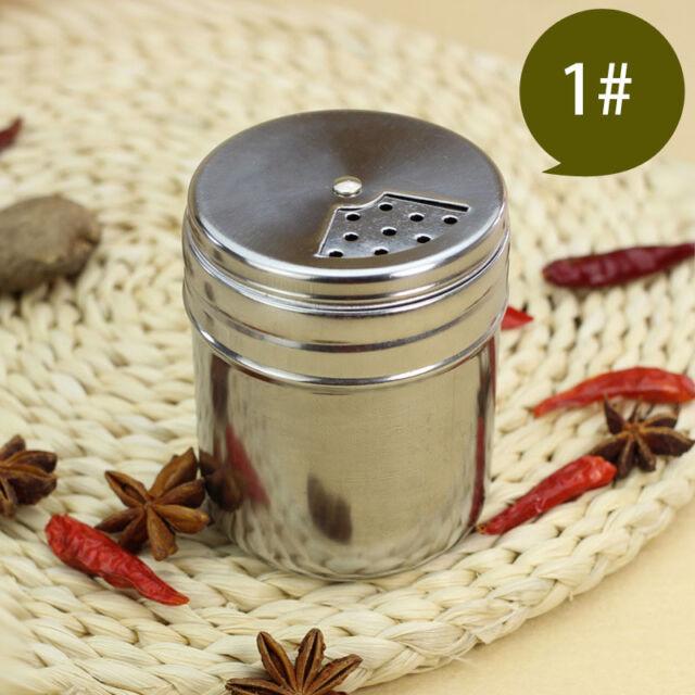 4x BBQ Stainless Steel Cruet Salt Pepper Seasoning Condiment Spice Shaker Bottle