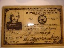 Marilyn Monroe DOD USO ID