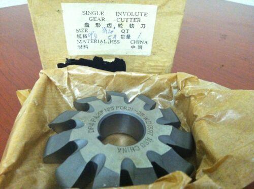 "#5 TTC 3-1//2/"" x 1/"" HSS 4DP 20PA Involute Gear Cutter 10-289-045"