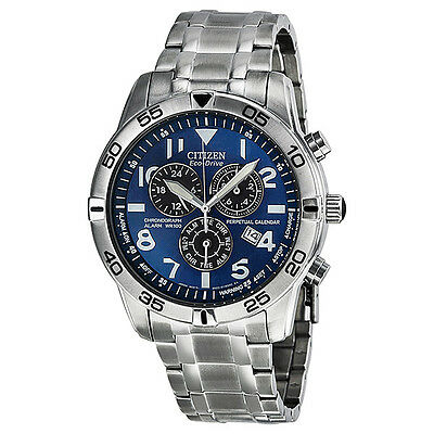 Citizen Perpetual Calendar Eco-Drive Chronograph Silver Dial Mens Watch