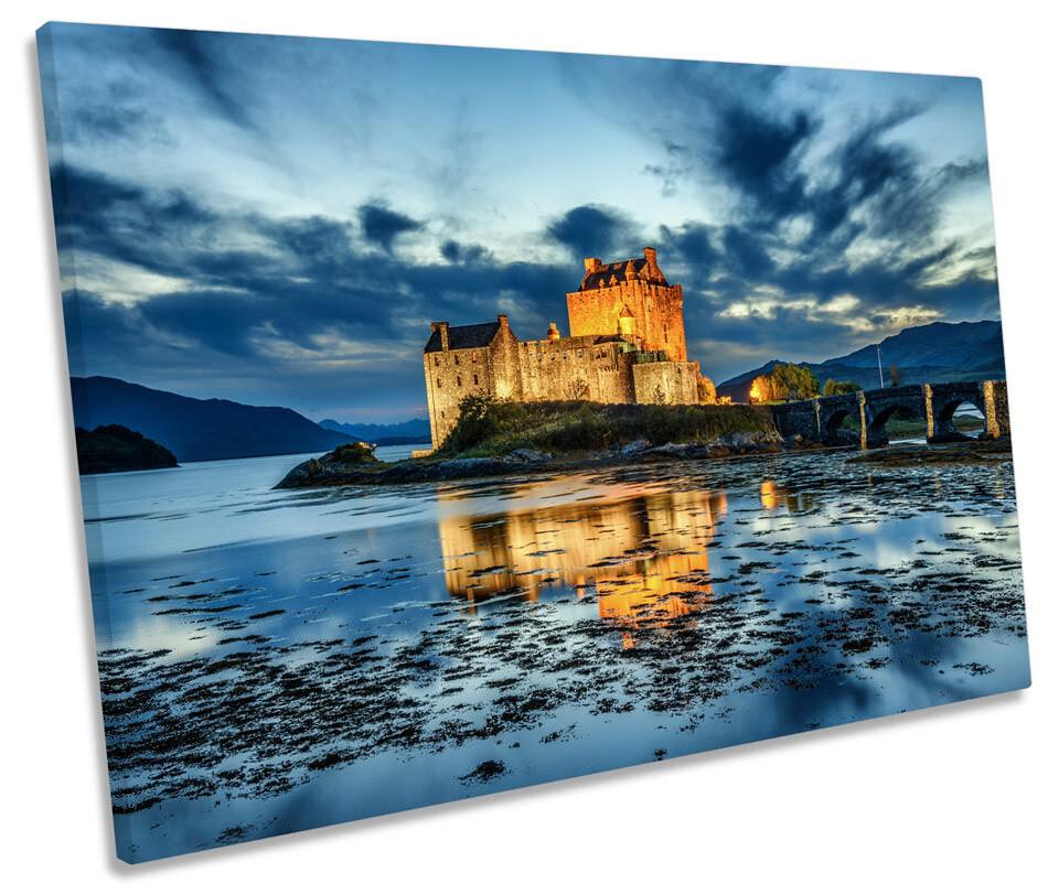 Eilean Donan Castle Scotland Picture SINGLE CANVAS WALL ART Print