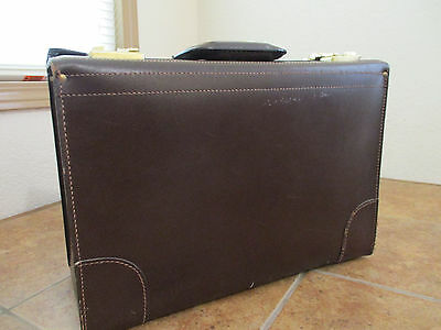 Korchmar Saddle LEATHER VINTAGE Attache Briefcase Lawyer Pilot Physician Sales