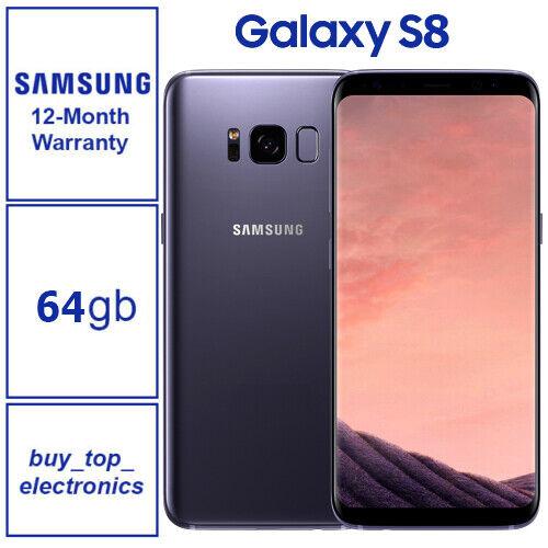 NEW Samsung Galaxy S8 - 64GB - Orchid Grey Smartphone G950F