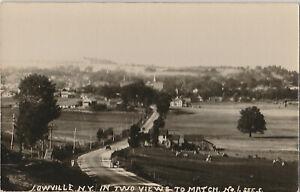 S21-1171-Vintage-RPPC-Postcard-Lowville-NY-View-of-Farm-Cows-Etc-c-1920