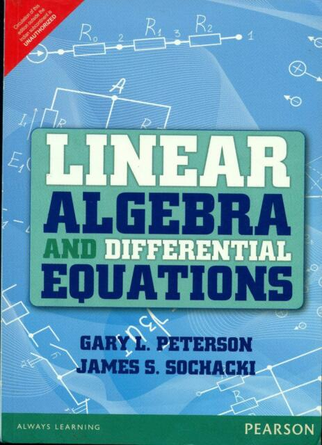 Linear algebra and differential equations by gary l peterson and linear algebra and differential equations by gary l peterson and james s sochacki 2001 paperback ebay fandeluxe Choice Image