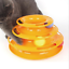 Funny-Pet-Cat-Crazy-Ball-Disk-Interactive-Toys-Amusement-Plate-Trilaminar-Toy Indexbild 9