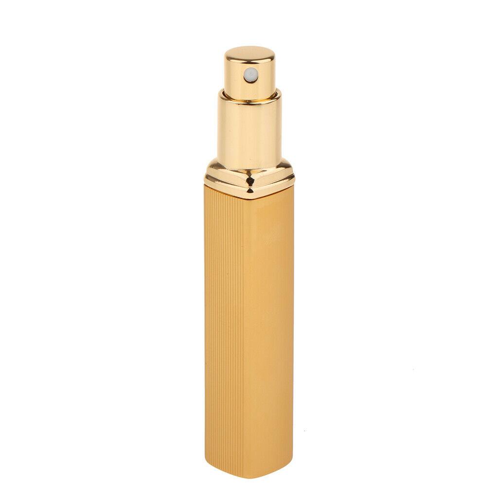 10 ml Aluminium nachfüllbare Parfüm Zerstäuber Pumpe leer Sprühflasche Gold