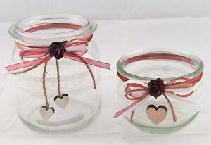 Details Zu 2 X Windlicht Vase Hochzeit Tischdeko Spitze Taufe Vintage Td0082 Bordeaux
