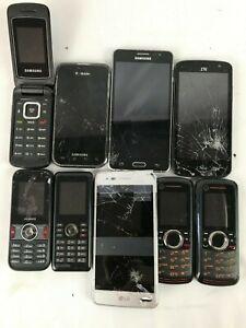 Lot-of-9-Cracked-Cell-Phones-Untested-Motorola-Samsung-BlackBerry-LG-HTC
