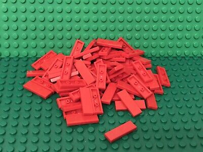 Lego X100 Red Tile 2x2 Smooth Surface Finishing Floor Tiles New Bulk Parts Lot