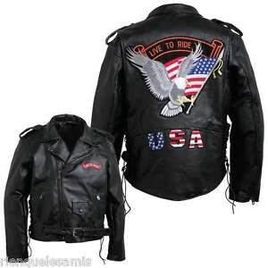 Blouson-perfecto-en-cuir-Aigle-live-To-Ride-M-a-3XL-biker-harley-custom