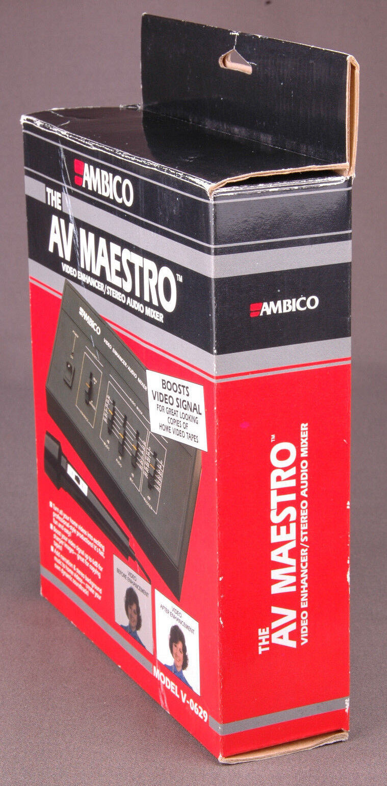 Ambico Av Maestro V0629 Video Enhancer Stereo Audio Mixer Reasonable Price Video Production & Editing