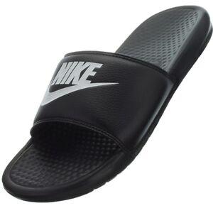 Details zu Nike Benassi JDI schwarz Herren Badelatschen Badeschuhe Sauna Strand Pantoletten